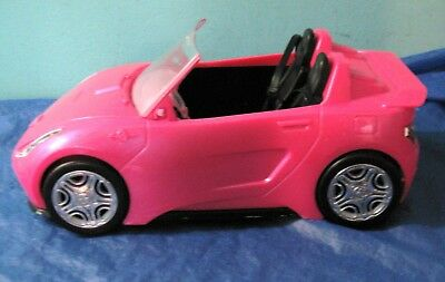 2016 Mattel Barbie Glam Sparkly Pink Convertible Car missing mirrors