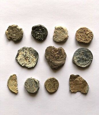 Lot Of 11 Byzantine Lead Seals