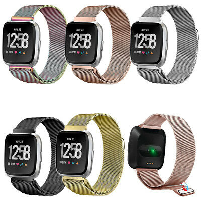 Magnetic Milanese Loop Band Strap for Fitbit Versa Smart Watch Stainless Steel