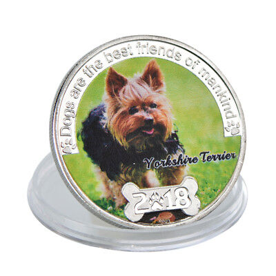 WR Yorkshire Terrier Silver Plated Metal Dog Coin 2018 Best Friend Series Gifts