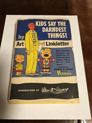 KIDS SAY THE DARNDEST THINGS! Book ART LINKLETTER 1957 Hardcover with Slipcover!
