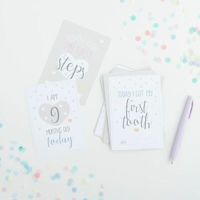 Oh Baby Assorted Milestone Cards - Pack of 20 Baby Shower Gift New Baby