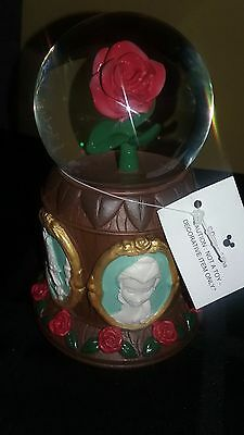 Disney Parks Beauty and the Beast Musical Rose Snow Globe Tale as Old as Time