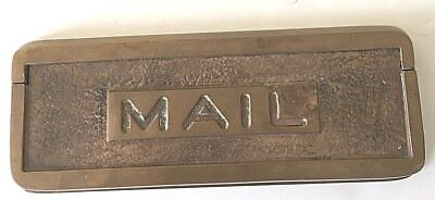 LARGE Solid Bronze/Brass Antique Mail Slot