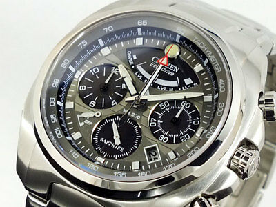 NEW CITIZEN Calibre 2100 Grey Dial Chronograph Steel Men's Watch AV0050-54H