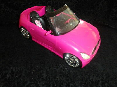 2009 Barbie Convertible Sports Car Pink Glam Zebra Print Seats Mattel