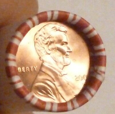 2002D Lincoln Memorial Cent Uncirculated Original Penny Sealed Rolls N.f. String