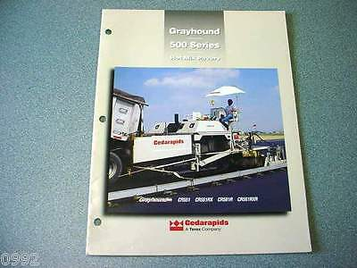 Cedarapids Grayhound 500 Series Hot Mix Pavers Brochure