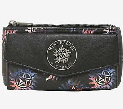 Supernatural Galaxy Anti-Possession Symbols Flap Wallet New With Tags!