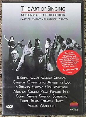 NEW UNOPENED The Art of Singing Golden Voices of the Century DVD 2002