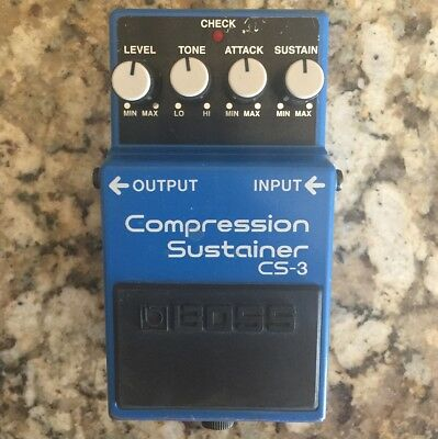 """Boss CS-3 """"Compression Sustainer"""" Guitar Effect Pedal, Roland 2004"""