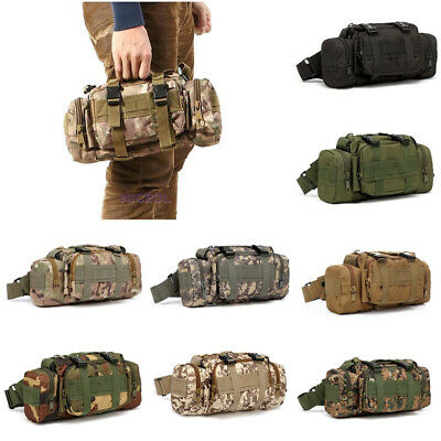 Men Military Tactical Waist Pack Outdoor Shoulder Molle Camping Hiking Pouch Bag