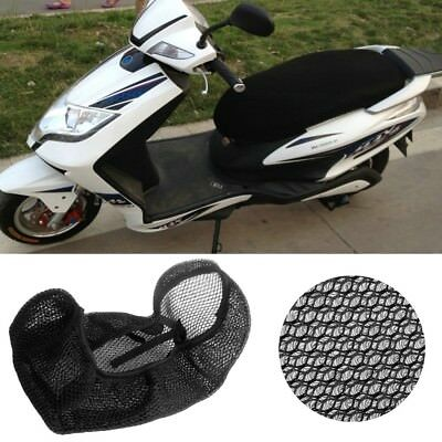 3D Black Motorcycle Electric Bike Mesh Net Seat Cover Cooling Protector Cushion
