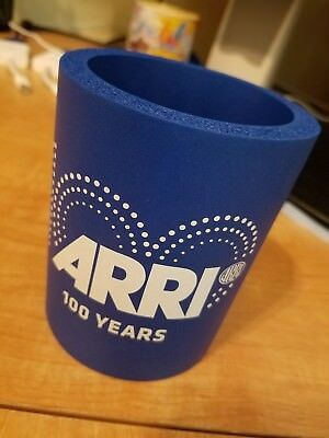 ARRI 100 years logo Koozie. Blue color. Insulated. Brand New.