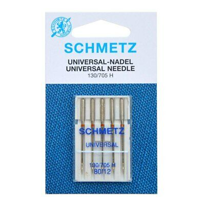 Schmetz Universal Sewing Machine Needles Size 80/12 Pack of 5 Quilting Craft DIY