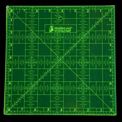 Ruler 8.5 x 8.5 Inch Square for Quilting and Sewing Matilda's Own Measuring