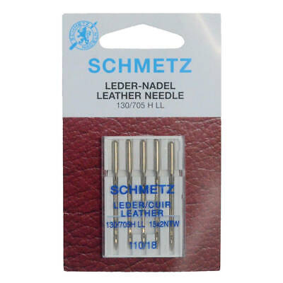 Schmetz Leather Sewing Machine Needles Size 110/18 Pack of 5 Craft DIY