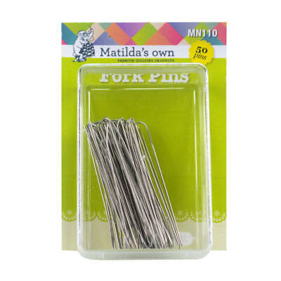 Fork Pins 50 Pins Matildas Own Quilting Sewing Craft DIY