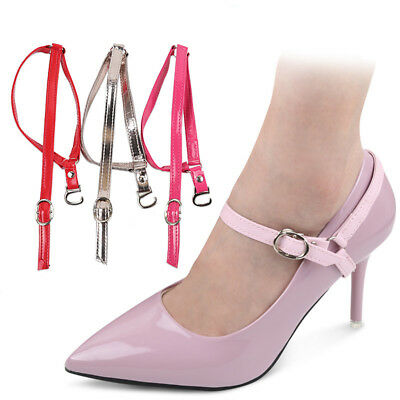 Detachable Shoe Straps Shoelace Belt Laces To Hold Loose High Heeled Shoes 1Pair