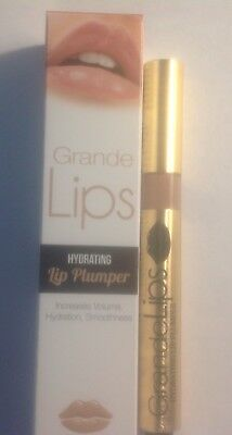 "NEW GRANDE LIPS ""BARELY THERE"" HYDRATING LIP PLUMPER  .084oz/2.4g IN BOX"