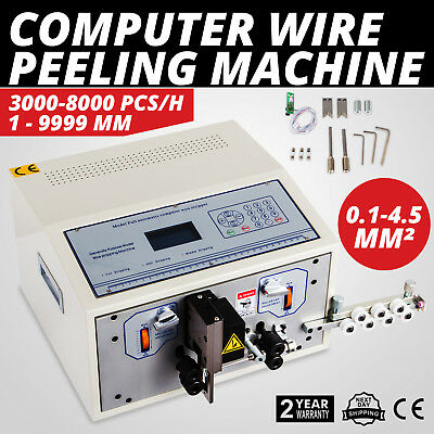 Computer Wire Peeling Stripping Cutting Machine 0.1-4.5mm² Automatic 4 Wheels
