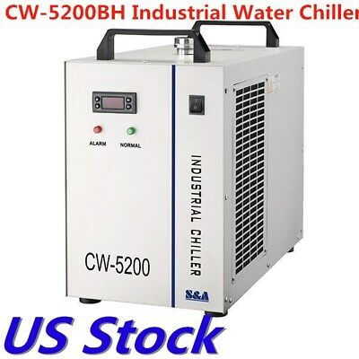 US STOCK CW-5200BH Industrial Water Chiller for 2 x 100W CO2 Laser Tubes Cooling