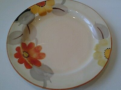 GRAY'S POTTERY: SMALL PLATE - MARIGOLD PATTERN - ART DECO - 1930s