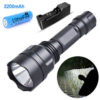 350ML Genuine 5modes Tactical CREE LED Flashlight Torch With 3200mAh Batterry