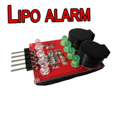 2 Cell 7.4V 3 Cell 11.1V Lipo Battery Low Voltage Tester Alarm Indicator CH