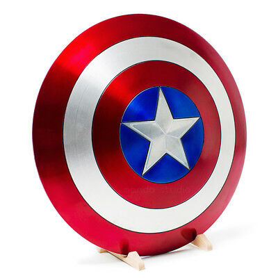 Captain America Vibranium Shield Made of Aluminum Alloy 1:1  Cosplay Prop