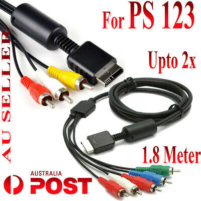 RCA Video Audio Composite Component Cable Lead Adapter for Playstation 3 PS3 PS2