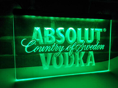 ABSOLUT VODKA Neon LED Display Sign Bar Club Pub **QUALITY**