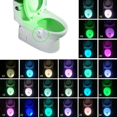 8/16/24 Color Changing Toilet LED Night Light Motion Activated Seat Sensor Lamp