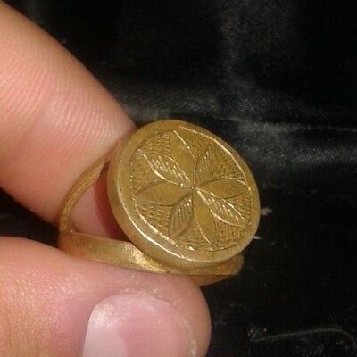 Ancient Bronze Roman Ring Old Ring Bronze  Decorated Design Free Shipping