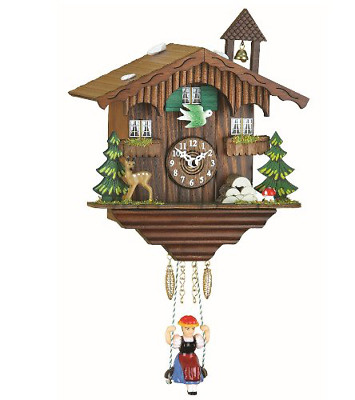 Kuckulino Black Forest Clock Swiss House with quartz movement and cuckoo chime T