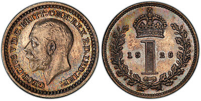 GR BRITAIN George V. 1929 AR Maundy Set. PCGS PL64-65 KM MDS 187. 1,761 sets