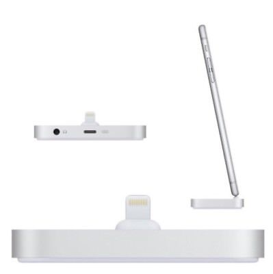 Apple iPhone Lightning Dock - Desktop Stand for iPhone 5/6/7/8/X - Silver