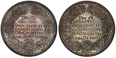 GERMAN ST. Nurnberg. 1730 AR Medal. PCGS MS65 Whiting 431. Beautifully toned.