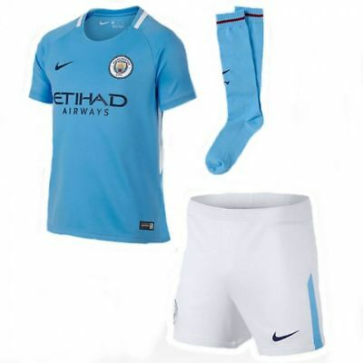 Manchester City Nike 2017/18 Home Child Kit  - Various Sizes + Players - New