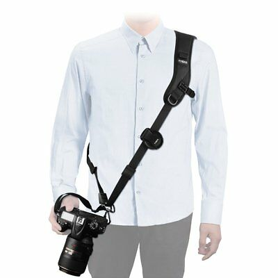 Comfort Quick Rapid Shoulder Sling Belt Neck Strap for Camera DSLR SLR DV Black