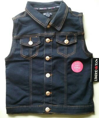 Limited Too Vest Girls Size :16  Sleeveless Button Down