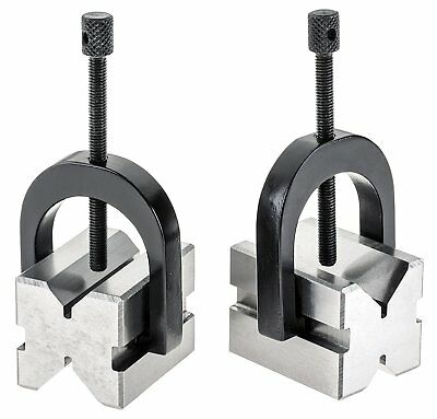 "2 Sets PRECISION 'V' BLOCK SET 1-3/8"" x 1-1/2"" x 1-3/4"" WITH FREE SHIPPING"