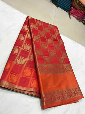 New Pakistani Indian Patola Silk Saree Fancy Ethnic Party Wear Designer Sari