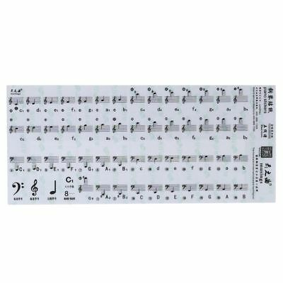 Music Label 88 Key For White Key Keyboard Piano Stickers Stave Note Sticker