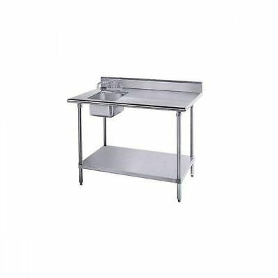 """Advance Tabco KMS-11B-306L 72"""" Work Table With Sink"""