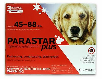 Parastar Plus for Dogs [45-88 lbs] (3 count)