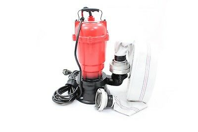 "++ SEWAGE PUMP 2"" TRASH DIRTY WATER GARDEN SUBMERSIBLE MAR-POL M79900 0.75 kW ++"