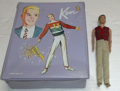 1960 Barbie Ken Doll Lot With Case Outfits Shoes Belts Ski's