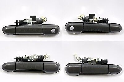 Set of 4 Outside Door Handle Textured Black for 91-94 Toyota Tercel