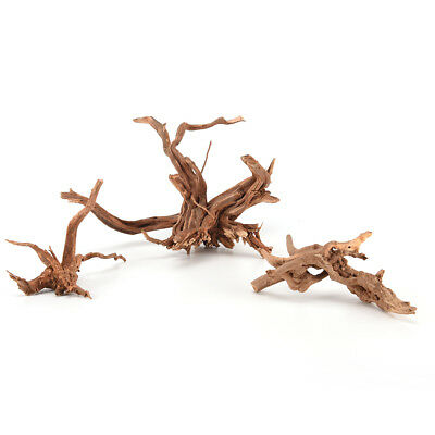 Natural Wood Trunk Driftwood Tree Aquarium Fish Tank Plant Stump Ornament DecorL